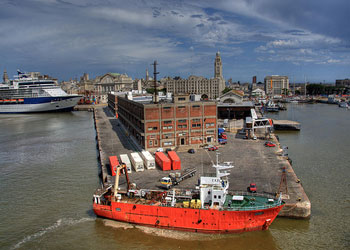 The port of Montevideo, Uruguay