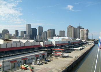 The Julia Street Cruise Terminal at New Orleans, Louisiana