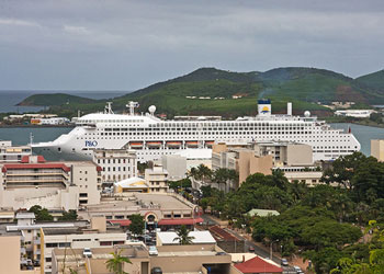 P&O Cruise ship docked in Noumea, New Caledonia