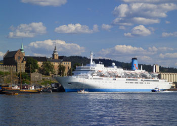 Thomson cruise ship moored at Oslo, Norway