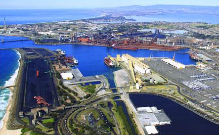 An aerial view of Port Kembla