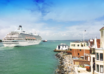 Crystal Symphony entering Portsmouth Harbour