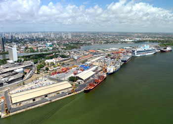 Star Princess docked at the Port of Recife, Recife, Brazil