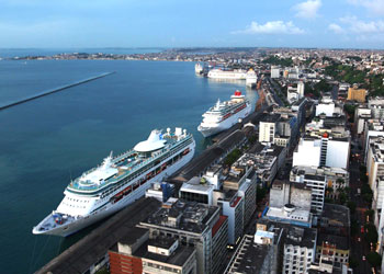 View over the port of Salvador de Bahia, Brazil