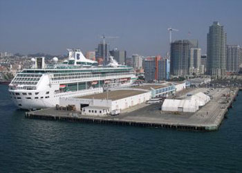 Legend Of The Seas docked at the San Diego Cruise Terminal