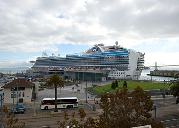 Crown Princess docked at the James R