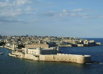 The port of Syracuse, Sicily