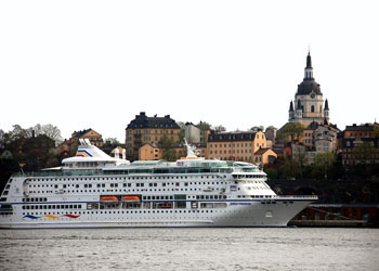 Cruise ship docked at Stadsgården, Stockholm, Sweden