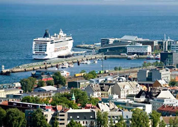 MSC cruise ship docked at the Tourist Ship Quay, Trondheim, Norway