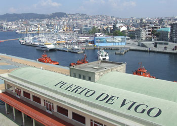 Cruise ship terminal, Vigo, Spain